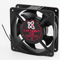 Turbina Cooler Metalico Buje 220v 4 Pug 120x120x38mm Cultivo
