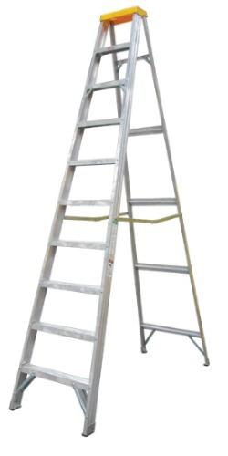 Escalera aluminio t familiar reforzada 10 escalones 2122 for Oferta escalera aluminio