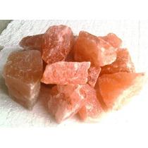 Sal Rosada En Piedra Partida, Por 1/2kg, Lamparas De Sal