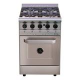 Cocina Industrial Morelli Country Forza 600 4 Hornallas  A Gas/eléctrica Plateada 220v Puerta Ciega