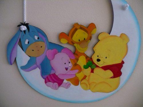 Cartel bienvenida bebe winnie pooh mckey otros a ars for Cuarto winnie pooh