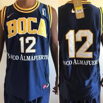 58f9da2b4d0 Camiseta Basquet Boca Juniors Retro Original Titular. Envios en ...
