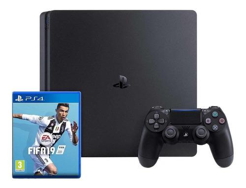 Sony Playstation 4 Slim 500gb Fifa 19 Bundle Jet Black