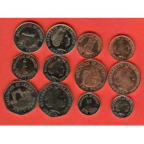 Jersey Set De 6 Monedas Modernas Sin Circular