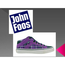 Zapatillas John Foos Mod. Skater Berry, Red Y Green