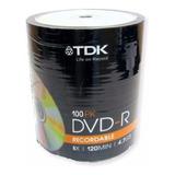 Dvd Virgen Tdk 8x 120min 4.7gb Bulk De 100 Unidades Original