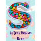 Letras Huecas Polifan 16 Cm Candy Bar