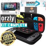 Kit Nintendo Switch Funda + Vidrio Templado Estuche Orzly