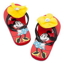 Ojotas Sandalias Minnie Mouse Flor Diamante Playhouse Disney