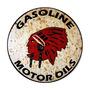 Carteles Antiguos Chapa Gruesa 50cm Indian Gasoline Pe-063