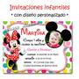 Minnie Mouse 25 Invitaciones Personalizadas + Cartel Regalo!