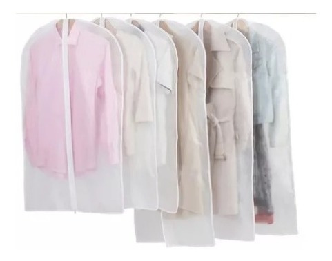 3 Funda Para Guardar Pollera Pantalon Con Cierre 60 X 70 Cm