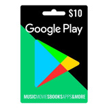 Tarjeta Google Play $10 Apps Y Juegos Android - Argencards