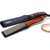 Planchita De Pelo Taiff Titanium 450 Naranja Y Negra Con Placas De Cerámica 110v/220v