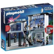 Playmobil 5182 Comisaria De Policia Con Alarma