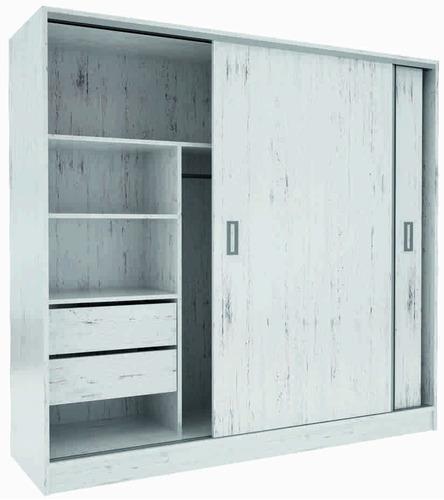 Placard puertas corredizas 1 82 guia metalica suave envios for Precio puerta metalica trastero