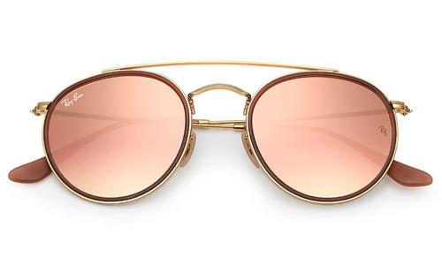 lentes ray ban espejados rosa