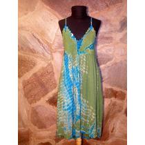 Vestido De Bambula Combinada Y Canesú De Crochet