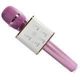 Microfono Inalámbrico Con Parlante Karaoke Bluetooth Rosa
