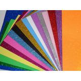 Goma Eva C/brillo, Med.30x20, 15u. Z. Once. Muchos Colores!!