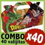 Dragon Ball Z Cajita Bolsita Valijita Souvenir Combo X 40