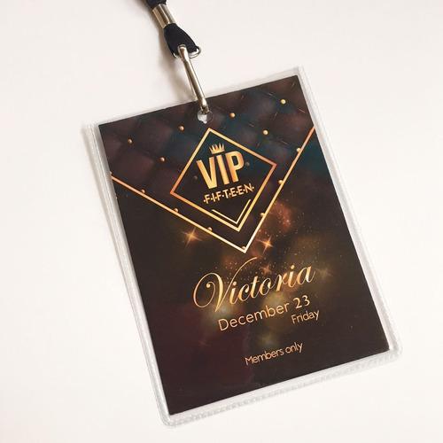 3fe4f8346ea5 Invitaciones De 15- Credencial Pase Vip - Tarjetas De 15 en venta en ...