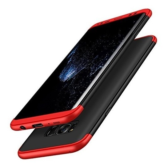 FUNDA 360 LUXURY SAMSUNG S7 EDGE ROJO CON NEGRO (TERRACOTA)