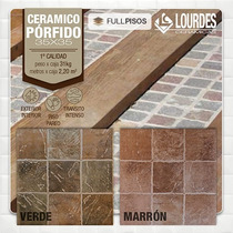 Ceramica Lourdes Porfido 35x35 Verde O Marron. La Plata