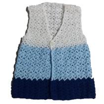 Chaleco Bebe Combinado Tejido A Crochet Lana Sedificada