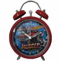 Despertador Metalico Hotwheels Con Campanitas A Pilas