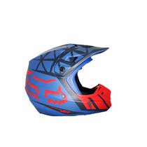 Casco Motocross V2 Given Azul Y Rojo - Fox