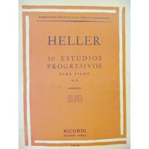 Heller 30 Estudios Progresivos Para Piano Ed. Ricordi