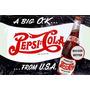 Carteles Antiguos En Chapa Gruesa 30x45cm Pepsi Cola Dr-021