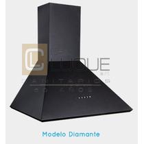 Campana Cocina Ecoclima Diamante 600 C/ Motor Negra