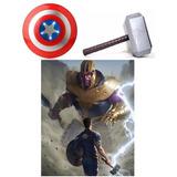 Escudo Capitán América + Martillo Thor - 6 Cuotas Sin Int!!