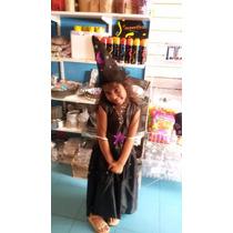 Disfraz Hada Negra Bruja Vestido Gorro 7 A 9 Años Halloween