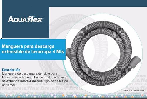 Manguera Flexible Descarga Lavarropa 4 Mts Pdl400 Aquaflex