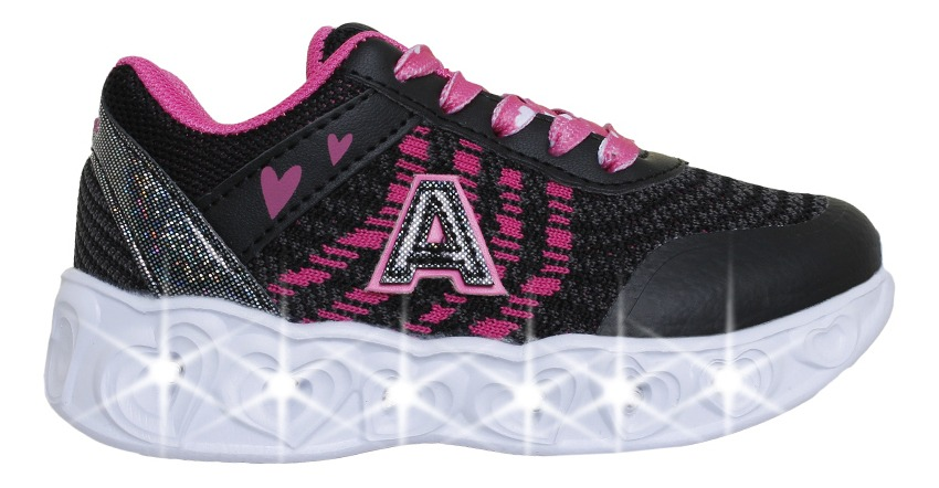Zapatillas Addnice Moda Arrow Corazon Cordon Niña Ng/fu