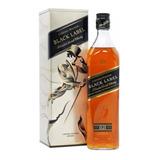 Whisky Johnnie Walker Black Label 750ml. Con Estuche En Lata
