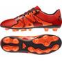 Botines Adidas X 15.4 Fg Solar Red / Orange Suelo Firme