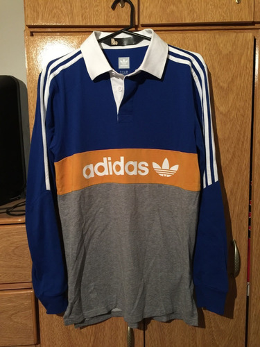 the best attitude aea81 9ea8b Chomba Manga Larga adidas Original Simil Boca Juniors en ...