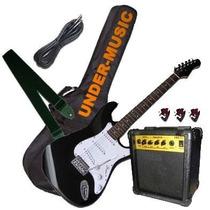 Combo Guitarra Electrica Amplificador Funda, Correa, Cable