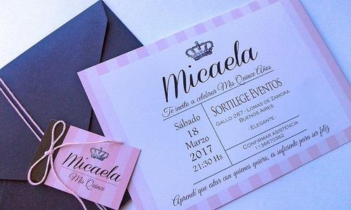 Tarjetas Invitaciones 15 Años X50 Compra Y Venta