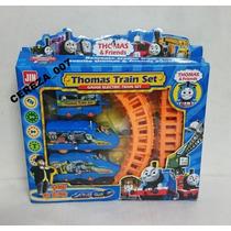 Tren + 3 Vagones + 5 Pistas De Tren Thomas