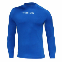 Remera Termica Webb Ellis Azul Manga Larga Rugby Hockey