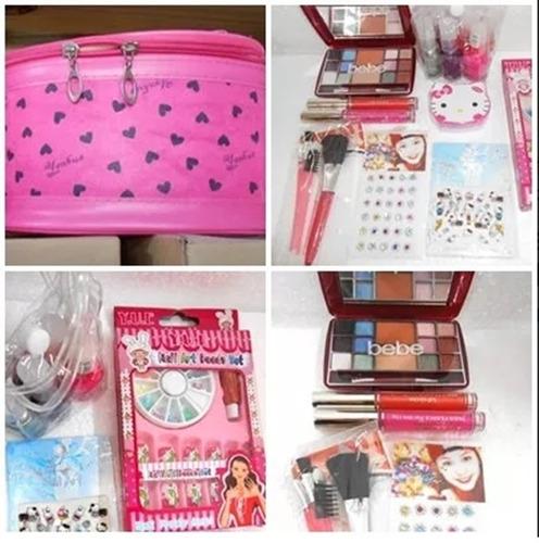 2ee29f9c0 Kit Maquillaje Y Uñas Nenas 20 Art Neceser Navidad Ydnis