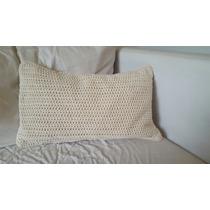 Nuevo. Almohadon Con Funda Crochet 30 Cm X 50 Cm