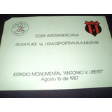 Progama De La Final Copa Interamericana 1987 / River Campeon