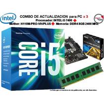 Combo Actualizacion Intel Core I5 7400 + H110pro-vh/plus+8gb