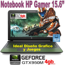 Notebook Hp Gamer Core I7 15,6 16gb Ssd256 Ak006la Gtx950 4g